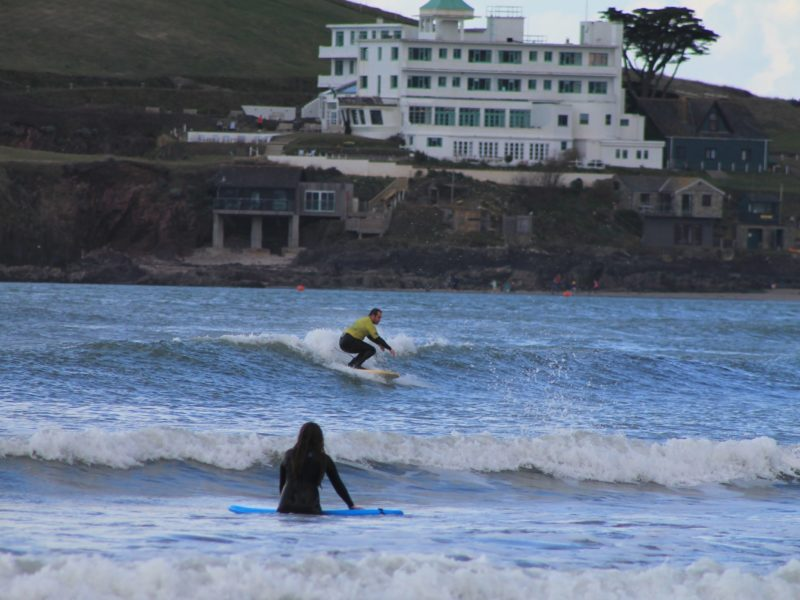 surfer Bantham beach