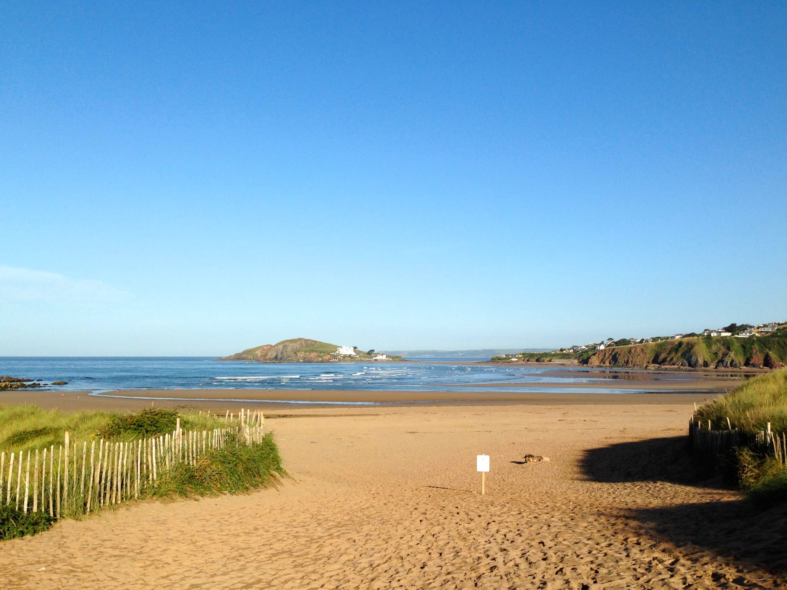 Burgh Island view from Bantham Beach