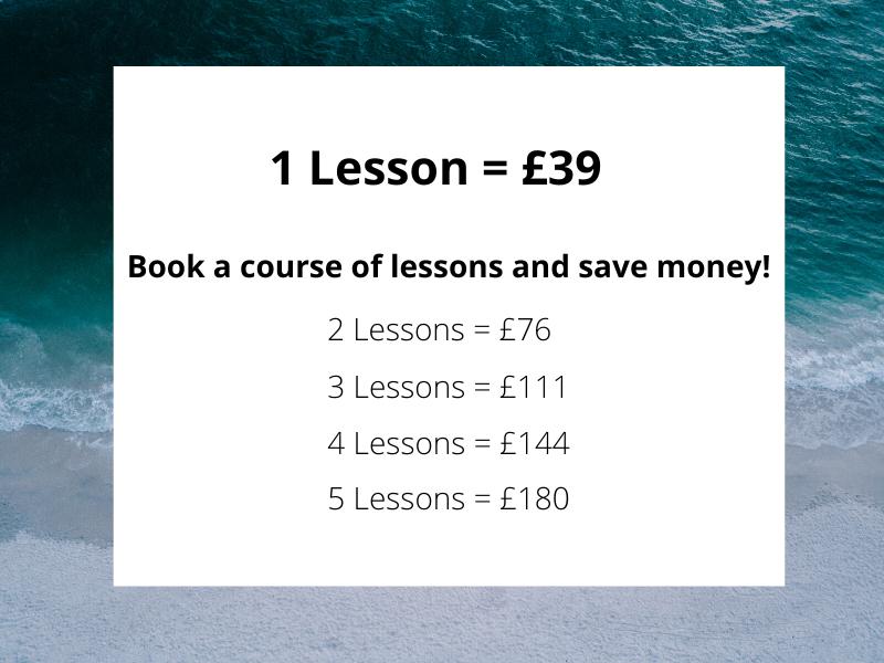 Beginner surfing lesson