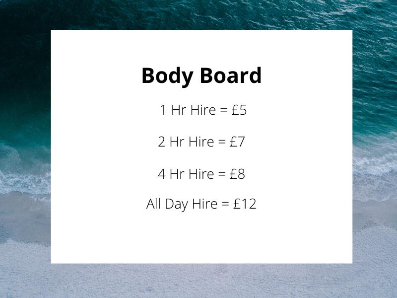 Body Board Hire